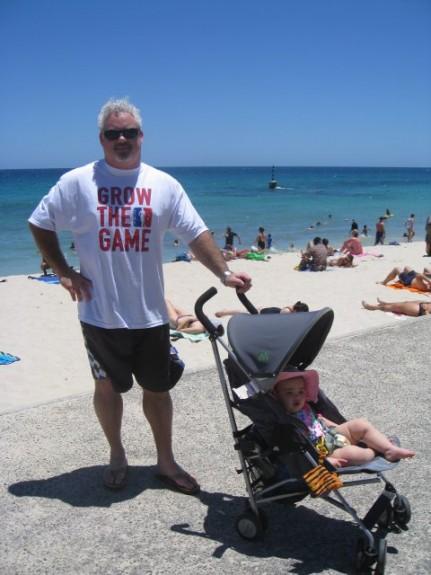 matt schomburg grow the game lacrosse lax australia beach baby sunny