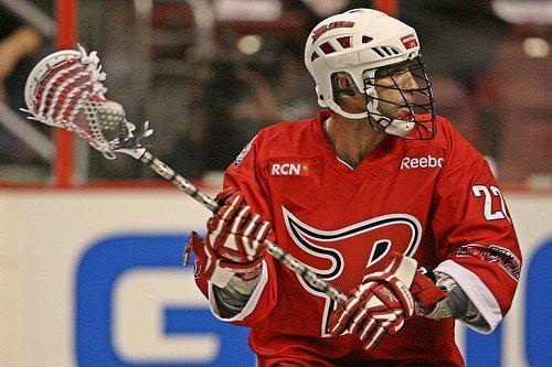 Casey Powell Lacrosse NLL Reebok Boston Blazers lax box indoor