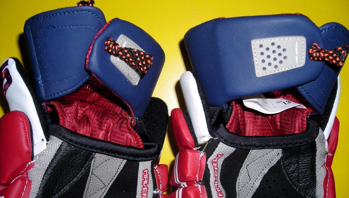 wrist guard velcro removal glove lacrosse lax tie cuff