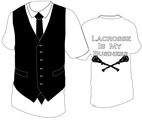 """""""Lacrosse is My Business"""" lax t-shirt"""