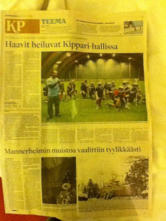 Kyle Harrison Finland Newspaper