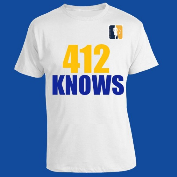 """412 Knows"" lax t-shirt"