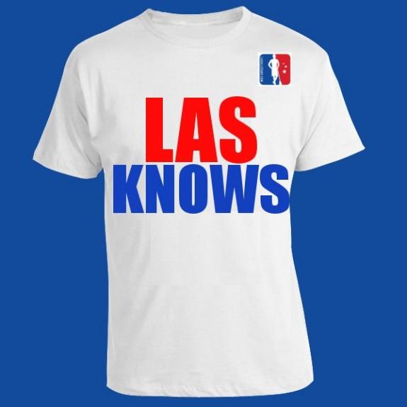 """LAS Knows"" lax t-shirt"