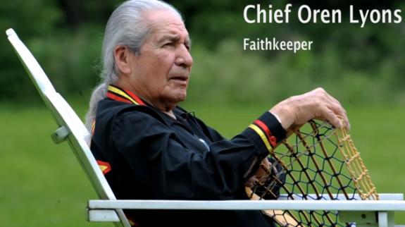Chief Oren Lyons Faithkeeper Six Nations Lacrosse lax