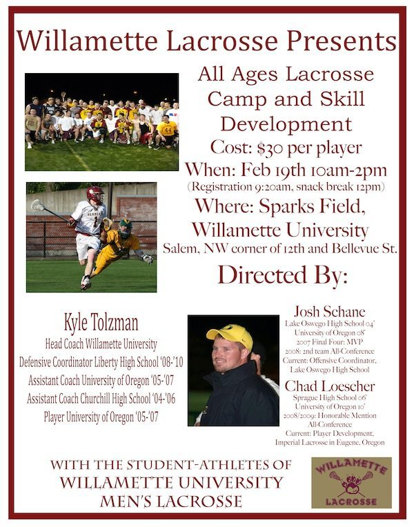 Willamette Lacrosse Skills Camp