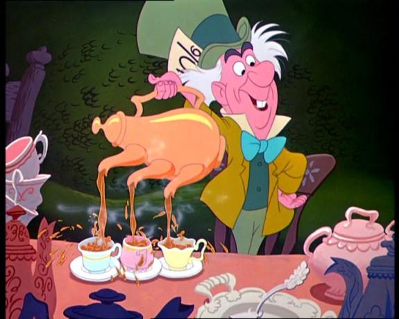 Mad Hatter tea pot 3 spout pour
