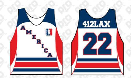 American Revolution 412 Lax jerseys