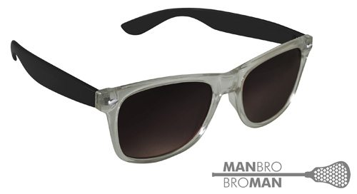 Man Bro Clear Black Sunglasses