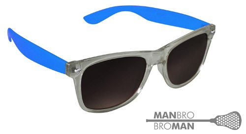 Man Bro Clear Blue Sunglasses