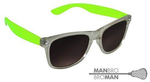 Man Bro Clear Green Sunglasses