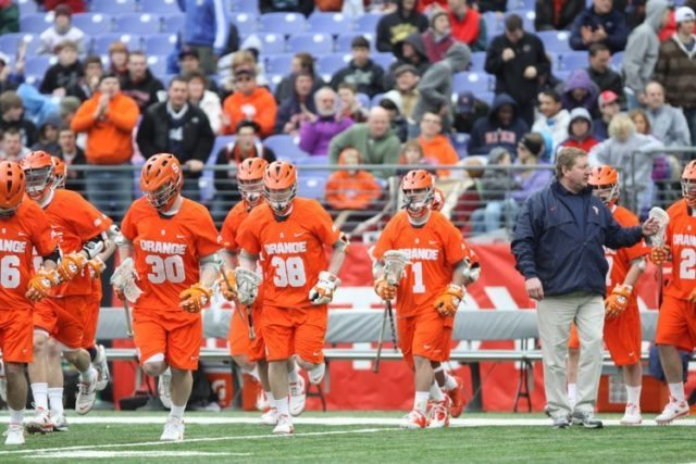 Syracuse lacrosse eye shield