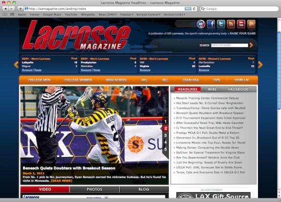 LaxMagazine Website redesign