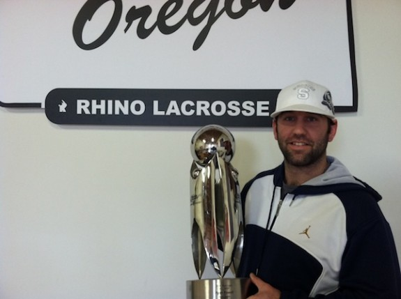 Ryan Powell MLL MVP trophy