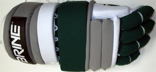 Brine L-35 Lacrosse Gloves green grey white