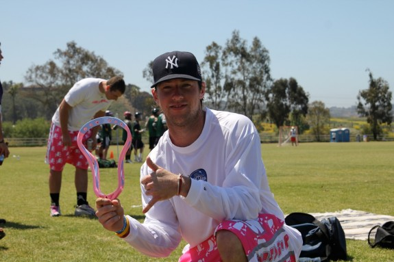 Salt Shakerz LC MVP pink lacrosse head Jam by the Sea