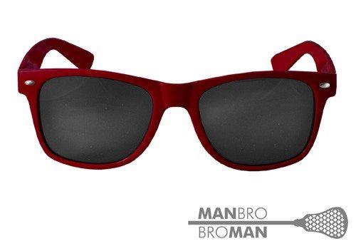 Man Bro Maroon Neon Sunglasses