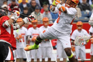 Maryland vs. Syracuse neon volt yellow lacrosse