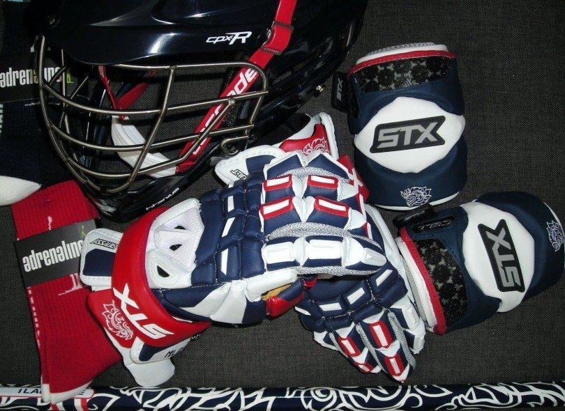 Thailand Lacrosse Gear helmet gloves STX lax gloves socks Adrenaline 1Lacrosse