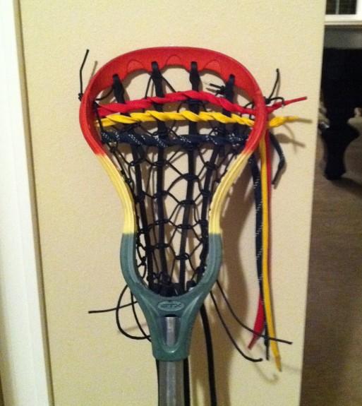 Rasta lacrosse dye traditional stringing lax
