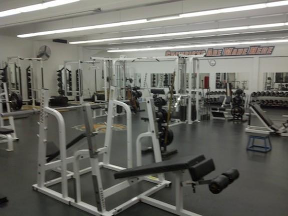 RIT weight room men's lacrosse
