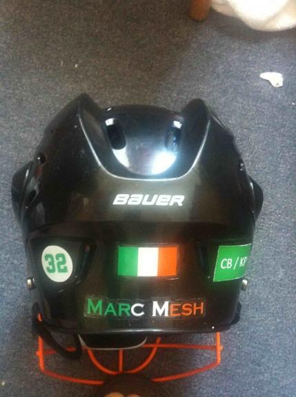 Ireland WILC helmet orange facemask lacrosse lax