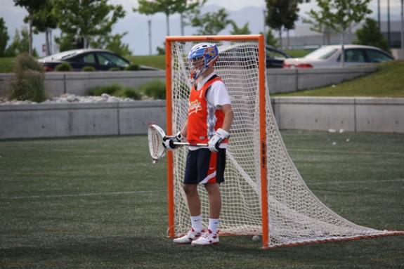 KC Orange Goalie Denver Lacrosse Team Camp