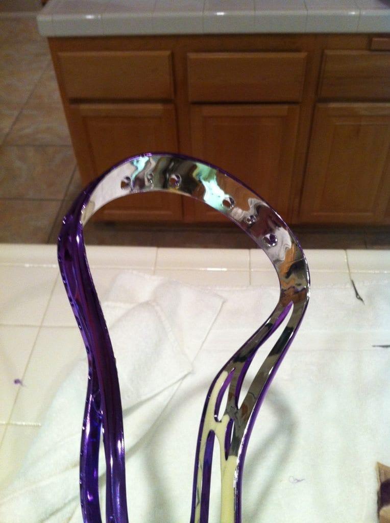 Chrome inside out dye job lacrosse lax