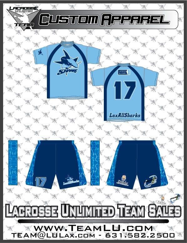 LaxAllSHarks uniforms unlimited lacrosse