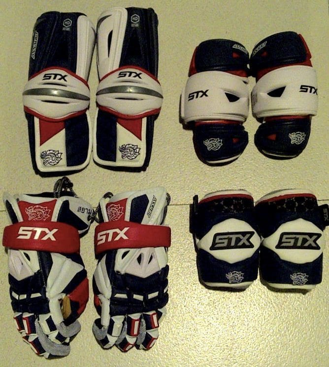 STX Thailand Lacrosse Padding pads gloves