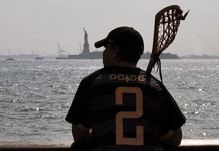 Native American lacrosse player NYC