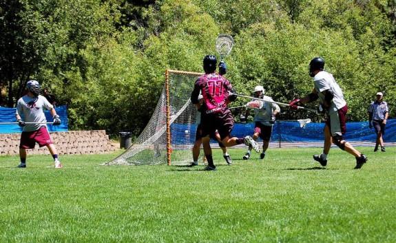 Woozles Nate Fristts goal lacrosse Tahoe