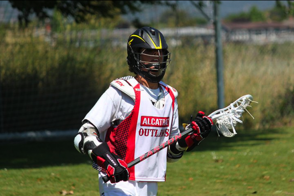 Easton lacrosse helmet and gloves SUmmer lax