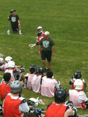 Coach V addressing the West Linn Campers.