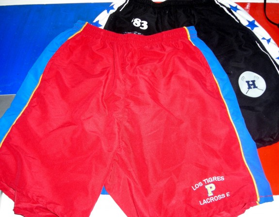 Streaker Sports Hopkins Tigres Shorts rare lacrosse