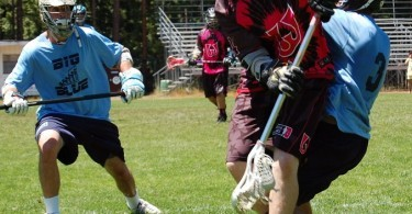 Joe Eck Woozles lacrosse cradel big blue