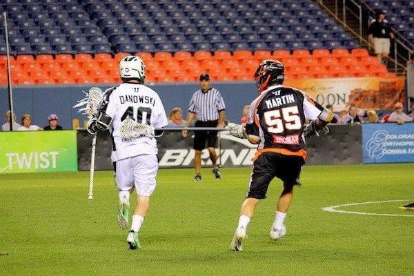 Denver's Eric Martin taking on Matt Danowski