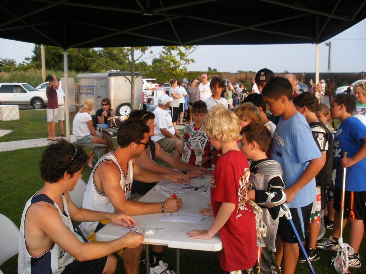 Lacrosse campers lax evo autographs