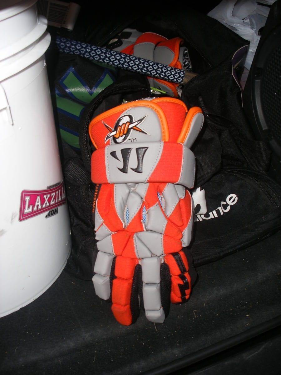 Outlaws Lacrosse gloves warrior Ryan Cranston