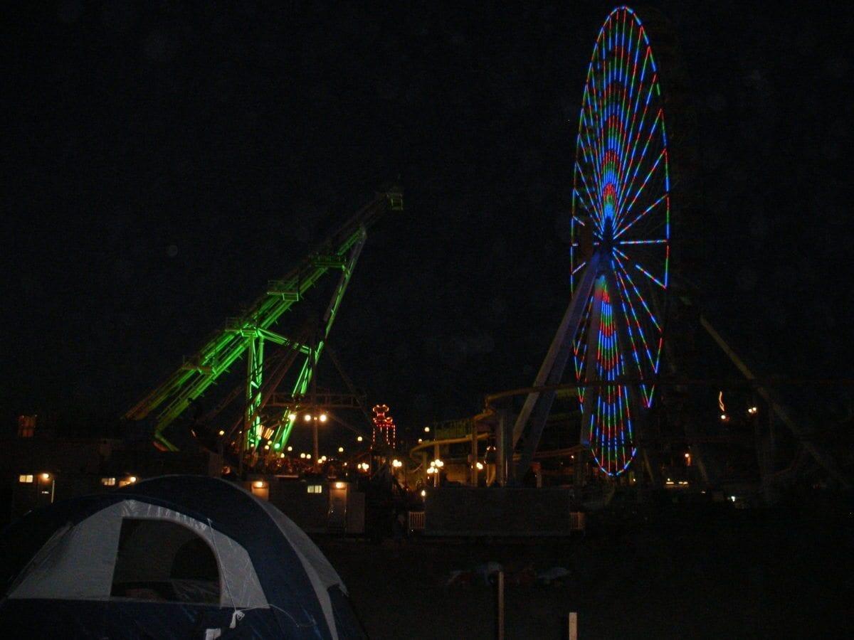 The Amusement Boardwalk at night. Pretty!