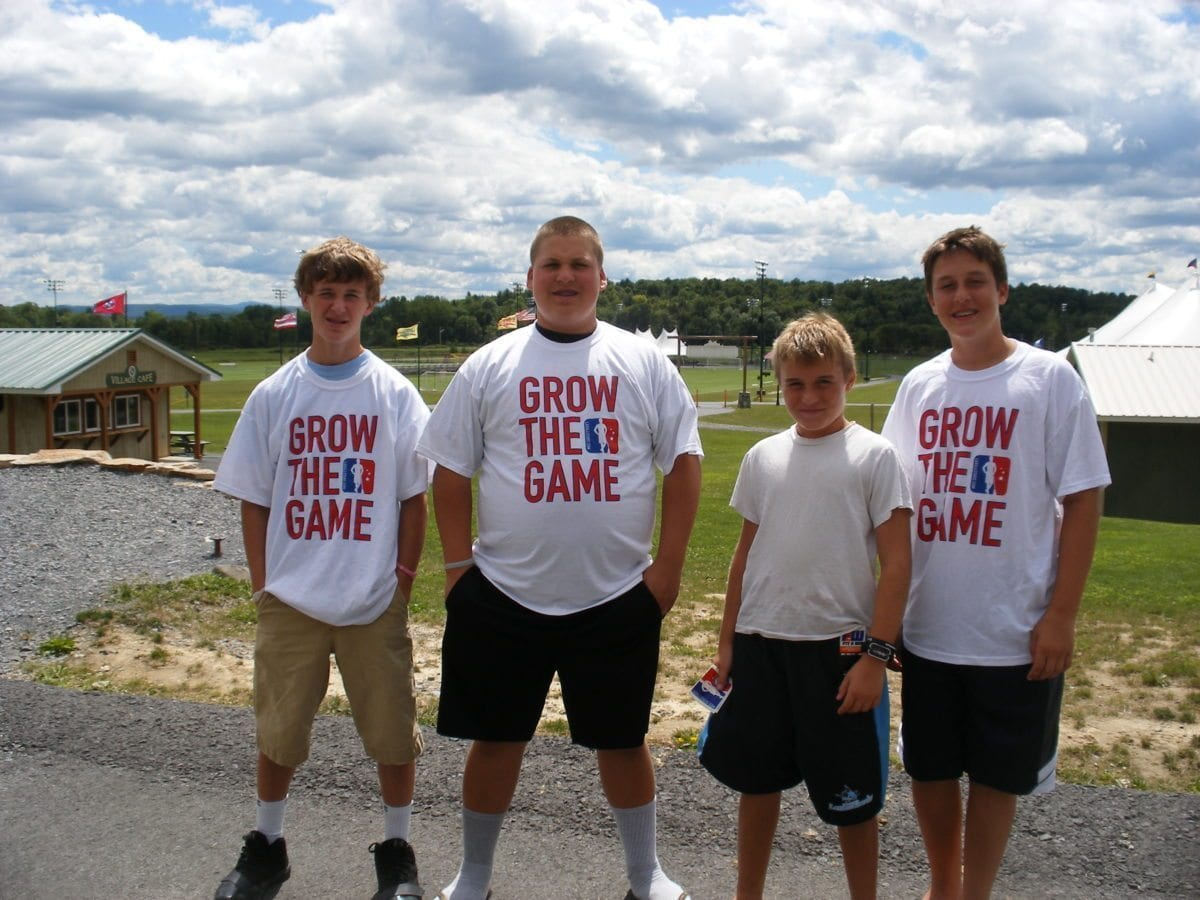 Grow The Game Campers lax lacrosse