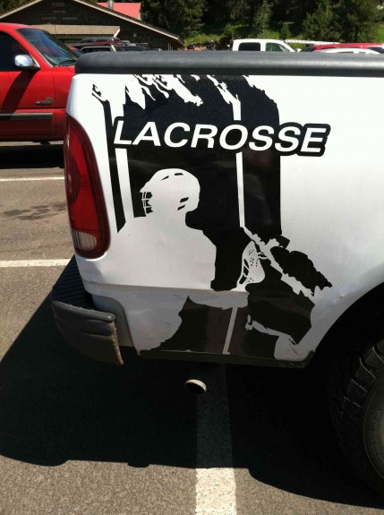 Lacrosse truck image bumper sticker extreme!