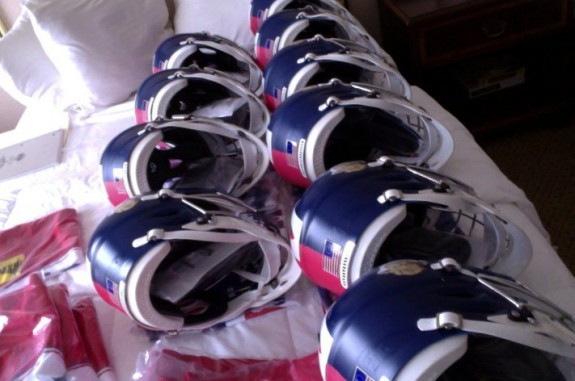 American Revolution Lacrosse in England London Spencer Lacrosse helmets
