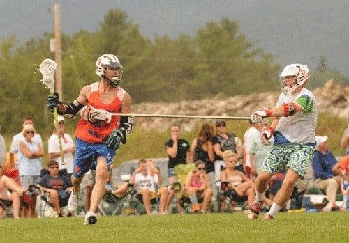 Mike Powell Burning Orange Lake Placid Lax Lacrosse
