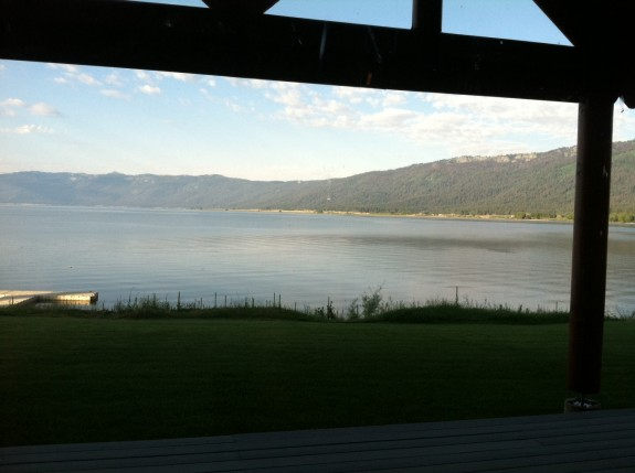 McCall Lax update via phone nature lake cabin view