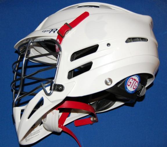 White out lacrosse helmet lax lid