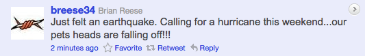 earthquake lacrosse lax tweet