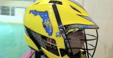 Florida Killer bee lacrosse helmet yellow lax cascade