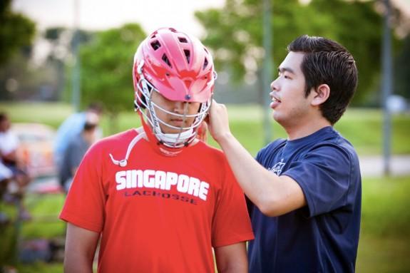 Payu Thailand Lacrosse Singapore lacrosse practice helmet