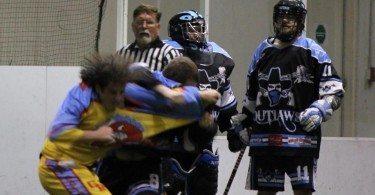 MILA box lacrosse fight
