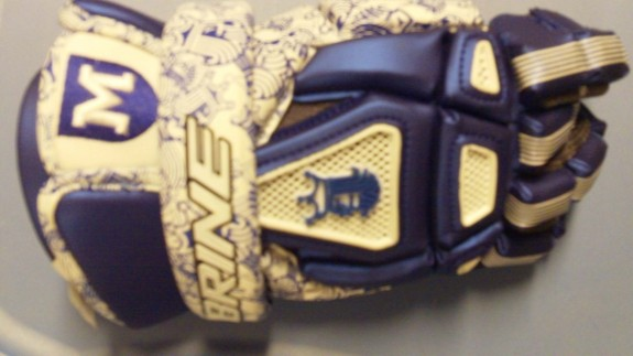 -The Mercersburg Academy Lacrosse glove Brine King custom